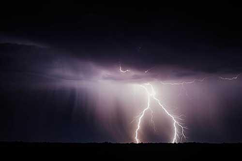 电闪雷鸣狂风暴雨